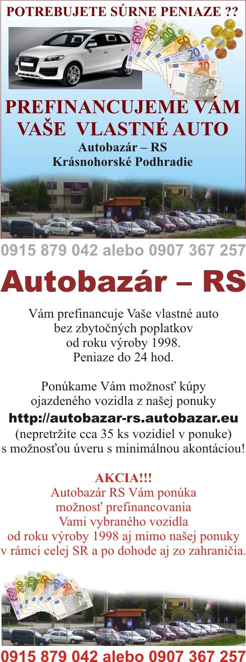 AUTOBAZAR RS KRASNOHOHORSKE PODHRADIE