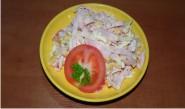 salat paradajka sunka syr kukurica
