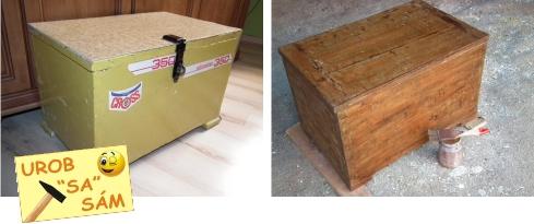 Stará drevená truhlica